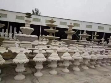 黄金麻异形雕刻产品 喷水池 花盆装饰产品
