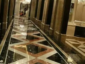 走廊地板拼花 KTV大理石地面装饰