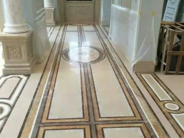 走廊拼花 欧式地板拼花 大理石地面装饰