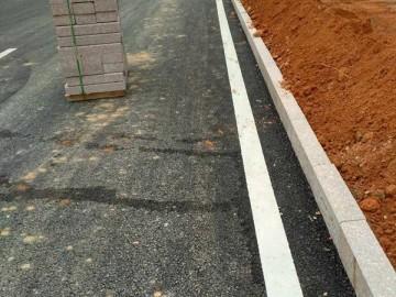 映山红路边石路沿石工地应用