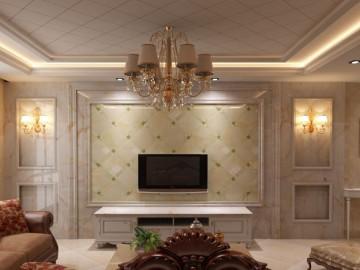 客厅玉石背景墙装饰 大小正方形拼板