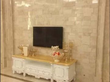 米黄色大理石电视背景墙