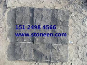 中国黑蒙古黑石材自然面 开裂
