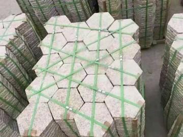 六边形地铺板 五莲产花岗岩石材地铺