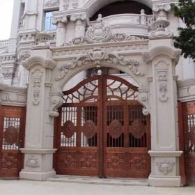 别墅大门 拱门 雕刻装饰