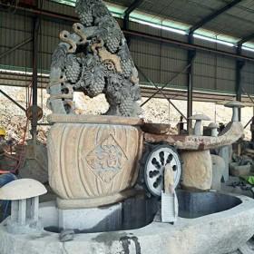 景观石雕 丰收流水鱼缸