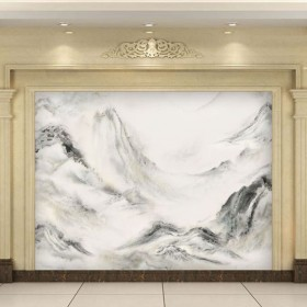 福建山水画石材背景墙