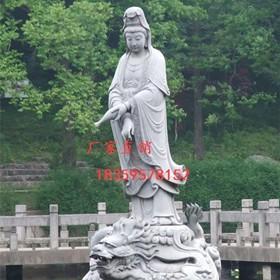 石雕佛像,三面观音石雕