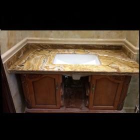 玉石大理石洗手台 石狮石材台面板