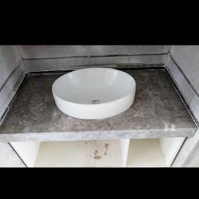 灰色大理石洗手台 石狮大理石台面板
