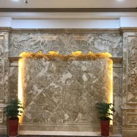 石材罗马柱背景墙 大理石家装