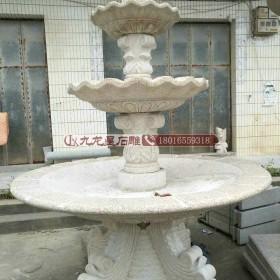 供应石材喷泉 别墅庭院石雕水钵 石雕喷泉订做 可来料加工