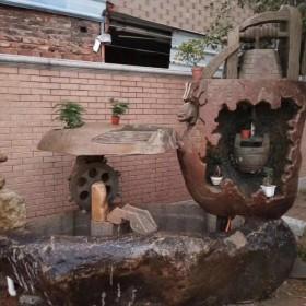 古装剧里的流水景观石