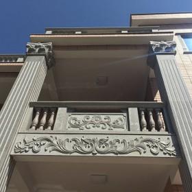 私人宅院阳台立柱护栏栏杆护栏板应用