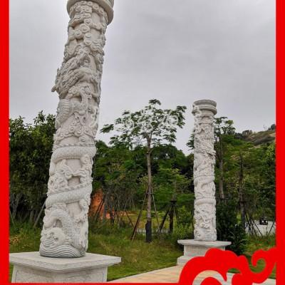 石雕盘龙柱厂家说:石雕龙柱价格多少钱一对