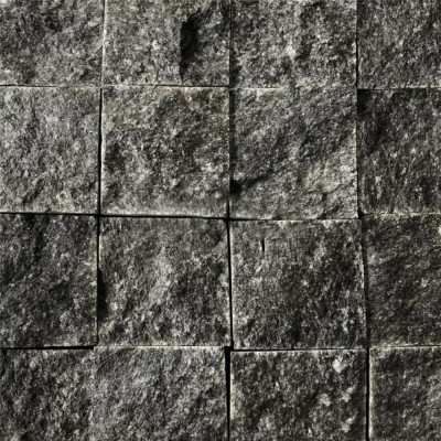 广西芝麻黑自然面 小方块自然面