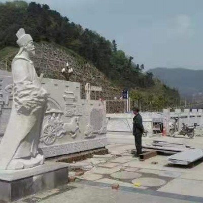 四川青石广场雕刻 地铺 栏杆配套工程应用