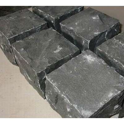 湛江黑马蹄石 小方块地铺石材
