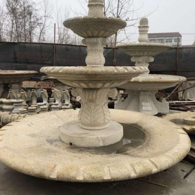 黄金麻异形雕刻 喷水池