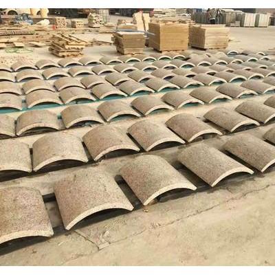 黄金麻弧形板 花岗岩圆柱弧形板供应