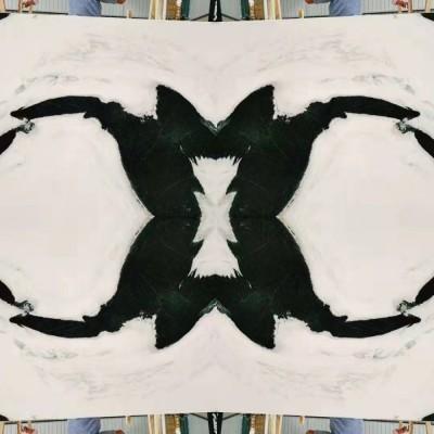 熊猫白四拼效果