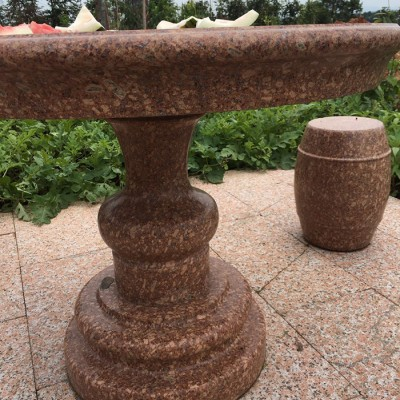 石材圆桌凳 户外休息石桌凳