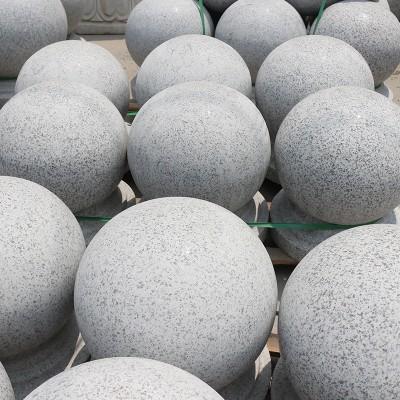 芝麻白圆球 石球 河南石球批发