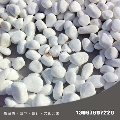 白色鹅卵石 天然白色鹅卵石 汉白玉水洗石 白色水洗石