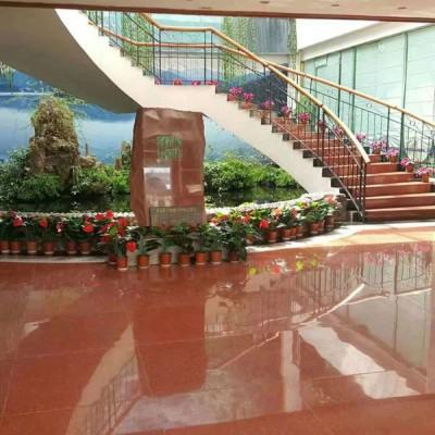中国红大厅地面 楼梯板 内装