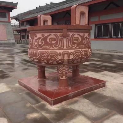 红鼎(中国红石雕)