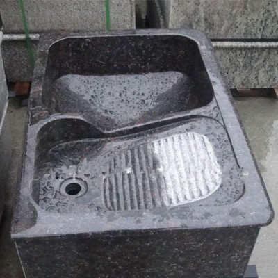 英国棕花岗岩洗衣池