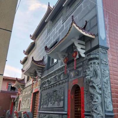 中国风青石墙面浮雕装饰