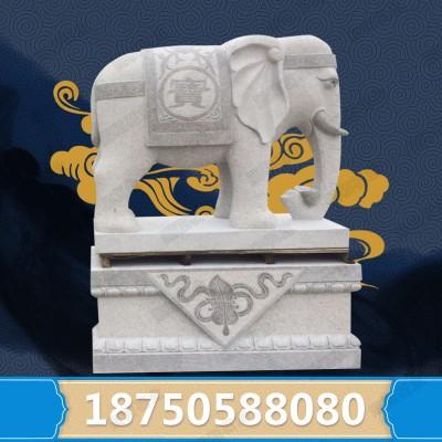 福建惠安大型石雕厂 大型花岗岩石雕大象价格 吉祥如意大象图片
