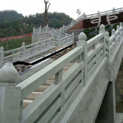 青石台阶护栏 四川景区青石栏杆