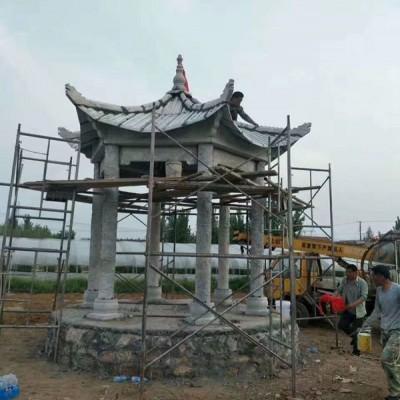 浙江温州石雕凉亭