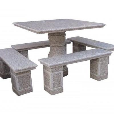 石桌凳 新卡麦石材庭院产品