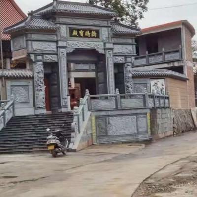 万源青石雕刻应用寺庙古建青石应用