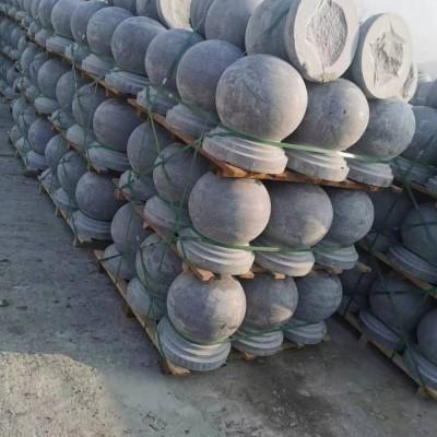 湖北花岗岩圆球(芝麻灰石球)