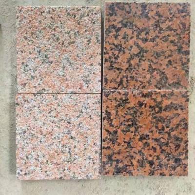 桂林红石材小样品(磨光面和荔枝面)