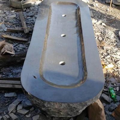 石文化创意洗手池 真石整石挖盆