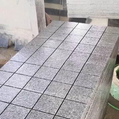 广西芝麻黑厚板酸洗面表面拉槽方格